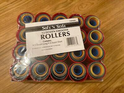 SOFT 'N STYLE Smooth Hair Roller Pack 12 dozen 8 Long 4 Short 1095x CHEAP!