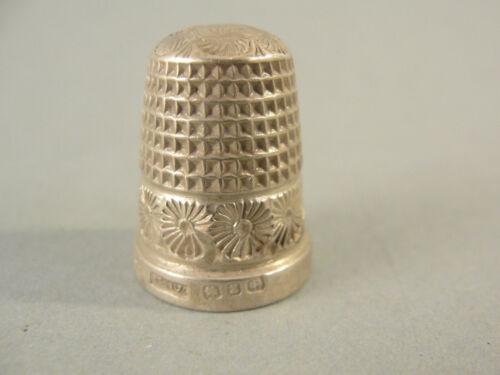 Victorian Silver THIMBLE. Hallmarked Birmingham 1899. Maker HG&S