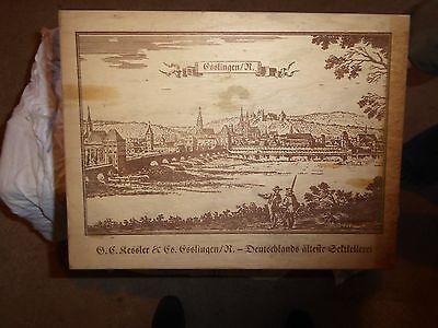 Kiste Sekt Holz antik Sammler