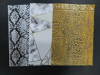 150 Set 10x13 Leopard Snakeskin Marble Poly Mailers Shipping Envelope Bags