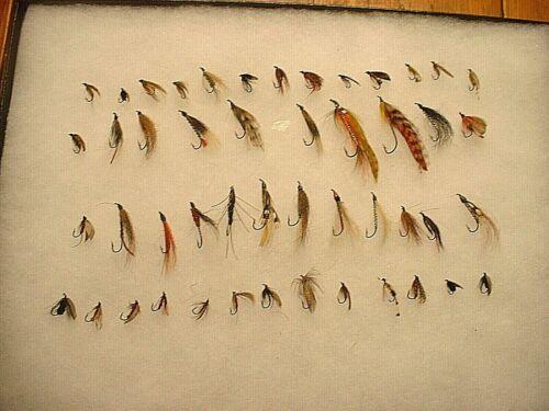 Lot of 48 Vintage Estate Fishing Flies