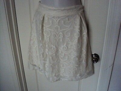 Gibson *Latimer Lined Lace Skirt Size Large Off white (Gibson Cotton Skirt)