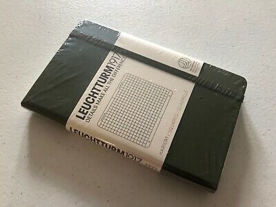 Leuchtturm 1917 Army Green Ruled Mini A7 Hardcover Notebook 168 Pages 70x110mm