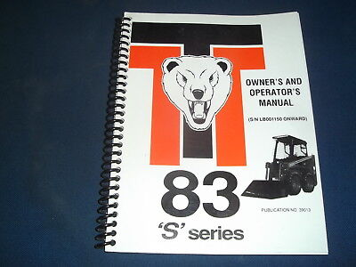 Thomas 83 S Series Skid Steer Operator Operation Maintenance Manual Book