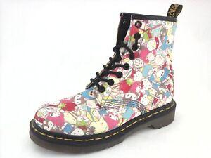 8fda73cdb DR MARTENS Hello Kitty Sanrio Combat Boots Pink Multi Women's US 5 EU 36  RARE