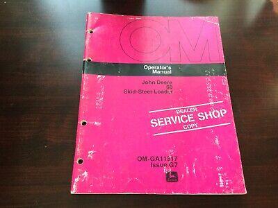John Deere 60 Skid Steer Loaderoperators Manual