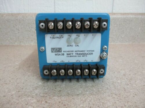 ROCHESTER INSTRUMENT SYSTEMS P/N:WSA3B WATT TRANSDUCER #111246G NEW