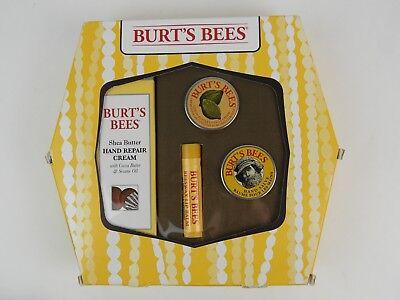 (Burts Bees Gift Set Hand Repair Cream Lemon Butter Cuticle Lip Balm Hand Salve)