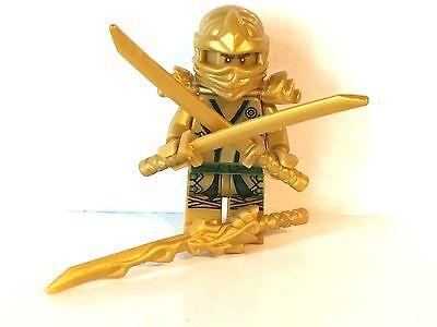 Lego Goldener Ninja / Ninjago mit Waffen / brandneu