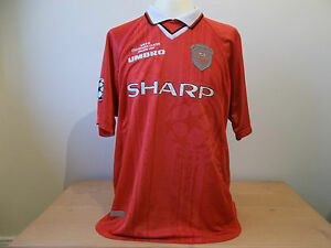 MANCHESTER-UNITED-RARE-CHAMPIONS-LEAGUE-SHIRT-JERSEY-1999-XL-MENS-ORIGINAL