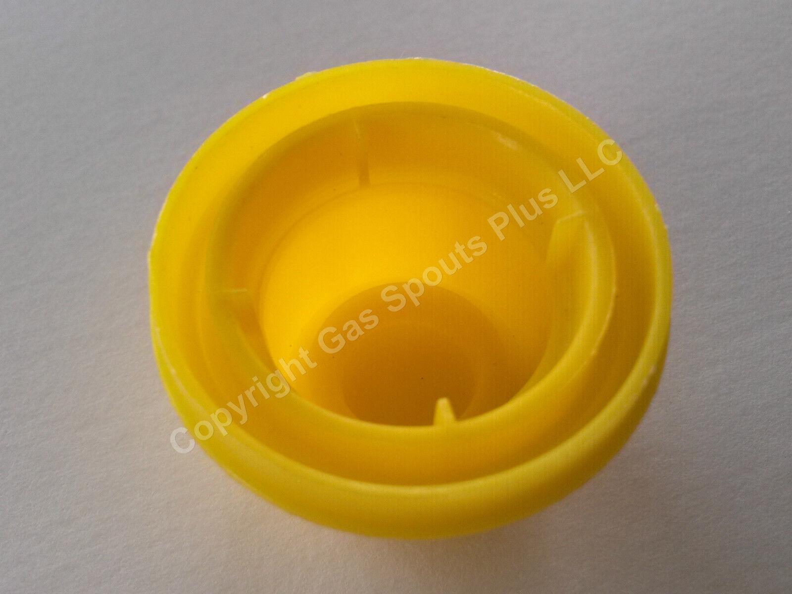 5PK BLITZ Replacement YELLOW SPOUT CAP Top Fuel GAS CAN # 900302 900092 900094