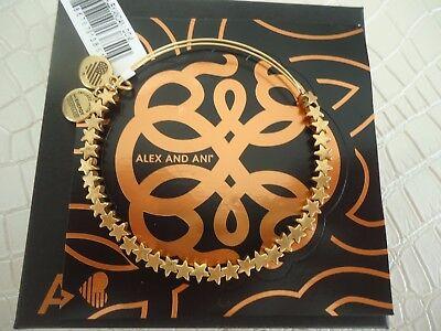 Alex And Ani Star Rafaelian Gold Charm Bracelet New W  Tag Card   Box