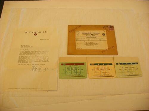Vtg Auto Automobile Car Advertising - Oldsmobile Sales Award 1941
