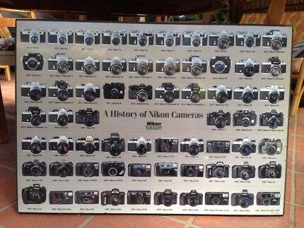 Large Nikon Camera history block mount