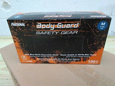Bg Nitrile 4 Mil Powder Free Gloves Medium Blue - 100 Count