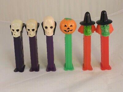 3 Piece Pumpkin Witch (Halloween PEZ Dispensers Skeleton, Pumpkin, 3-piece Witch, no copy-write )