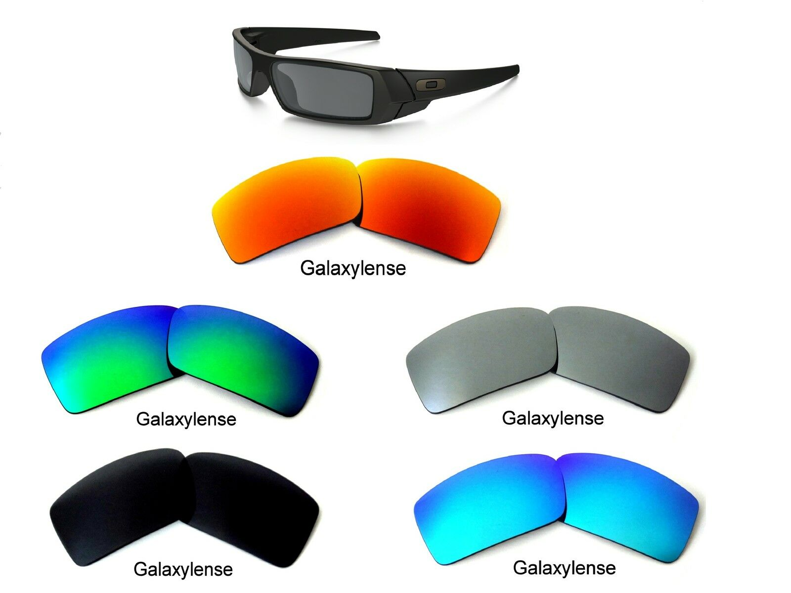 ae7bdea8ad Galaxy Replacement Lenses For Oakley Gascan S Small Multicolor Polarize  100%UVAB