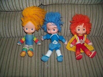 3 Vintage 1983 Hallmark Rainbow Brite Dolls - Includes Buddy Blue - 10