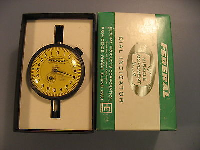 Federal Gage Q21 Dial Indicator Gauge .002 Mm With Box