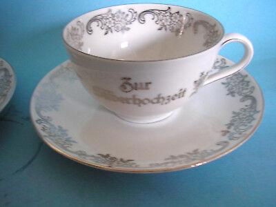 Schumann Arzberg Teetasse m. Untere von Hermann Gretsch Zur Silberhochzeit
