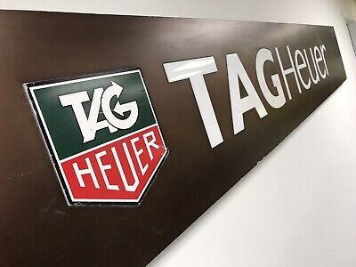Tag Heuer Watch Dealer Sign REAL Heuer Porsche  9' FEET Rolex