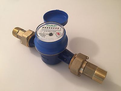 Dae As250u-100 1 Inch Water Meter Measured In Gallon Couplings
