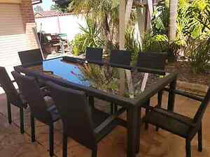 Freedom Wicker 9 piece outdoor setting Bligh Park Hawkesbury Area Preview