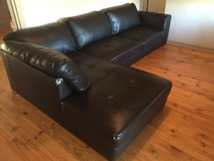 2 piece leather look L shaped couch  Salisbury North Salisbury Area Preview