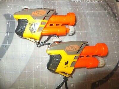 Nerf Keychain N-Strike S.S. AS-1 Micro Soft Dart Guns - SET OF 2
