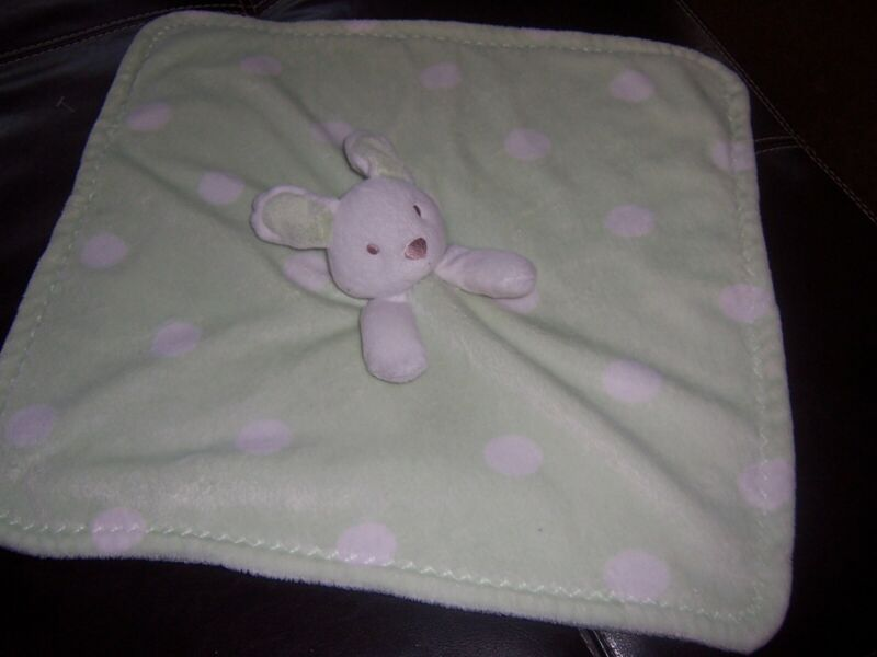 Blankets and Beyond green rabbit   Lovey Security Blanket Lovely