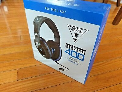NEW Turtle Beach Ear Force Stealth 400 Wireless Gaming Headset Sony PS4 Pro