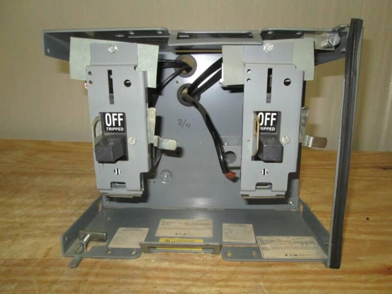 Cutler-Hammer Eaton Unitrol F10 30 & 100 Amp Dual Breaker Feeder MCCB MCC Bucket