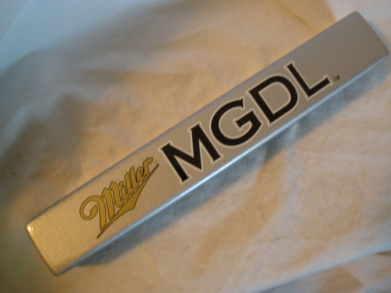 "MILLER MGD LIGHT DRAFT BEER 4-SIDED ""SHOTGUN"" TAP HANDLE"