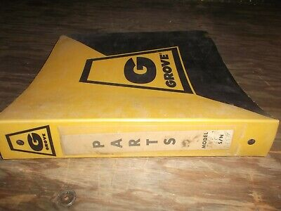 Grove Ind68 Truck Mounted Mobile Hydraulic Crane Parts Catalog Manual