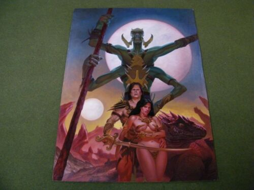 2012 Alan Pollack Original Art Painting John Carter Warlord of Mars MTG Artist!