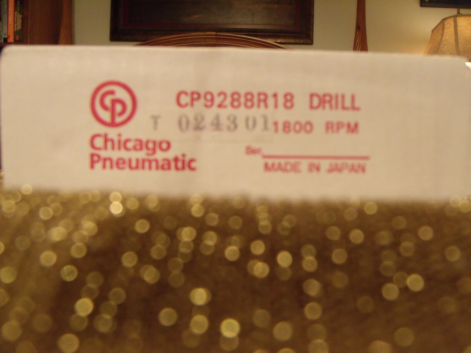 """CHICAGO PNEUMATIC CP9288-R18 SUPER DUTY REVERSIBLE PNEUMATIC DRILL 3/8"""" 1800 RPM"""