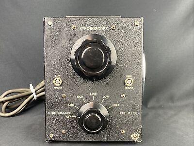 Vintage Strobotac Stroboscope Strobe Light Mercury Electronics Ts-805 Cu Works