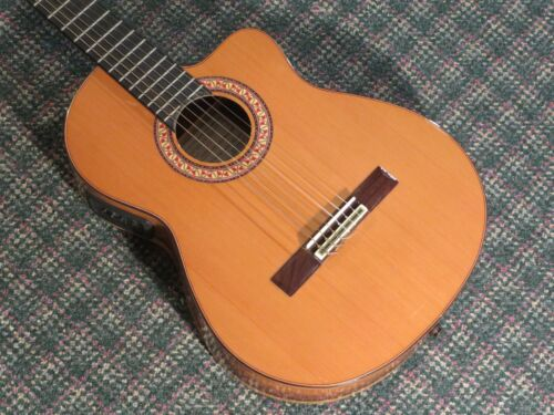 Manuel Rodriguez Cutaway D Classical/Electric Guitar Cedar/Rosewood! w/case