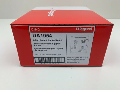 New- On-Q/Legrand | DA1054 | 4-Port Gigabit Router/Switch