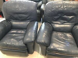Pair of lunacy leather reclining chairs Middleton Grange Liverpool Area Preview