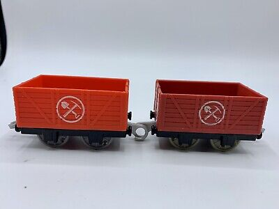 Thomas & Friends Trackmaster For Motorized Sets Empty Mining Cargo Cars Red