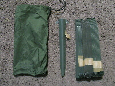 """LOT of 24 Military Tent Stakes Antenna Tower Mast Camping Aluminum 12/"""" W//Bag"""