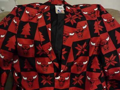 NWT NBA FOCO Chicago Bulls Men's Dress Coat - Chicago Bulls Dress