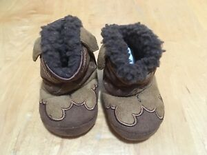 Cowboy Kickers baby slippers, 3-6 months