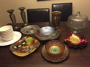 Assorted decorative dishes