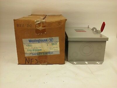 Westinghouse Heavy Duty Safety Switch Hun261 30a 600480vac600dc 2p Indoor