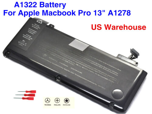 "Genuine OEM A1322 Battery For  MacBook Pro 13""A1278 Mid 2009 2010 2011 2012 US"