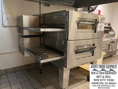 Lincoln Impinger 3240 Q Gas Conveyor Oven Double Stack W Heavy Casters