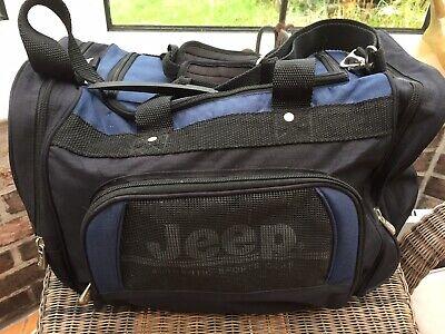Jeep Sports Bag, Gym Bag, Holdall. Authentic Jeep Bag. Black/blue