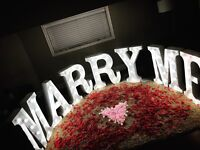 Marquee Letters for Rent - MARRY ME